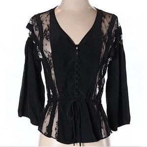 Parker Silk and Lace Blouse
